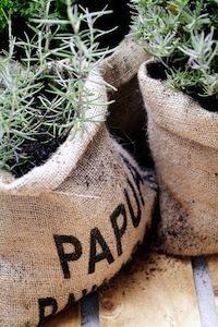 Hessian Bag Planter Pots