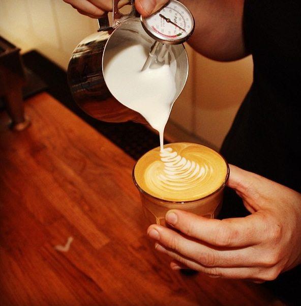 Latte Art using Rhinowares Milk Jug