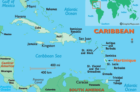 The Island of Martinique, in the Caribbean
