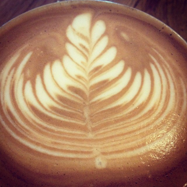 latte art - made at quest coffee roasters