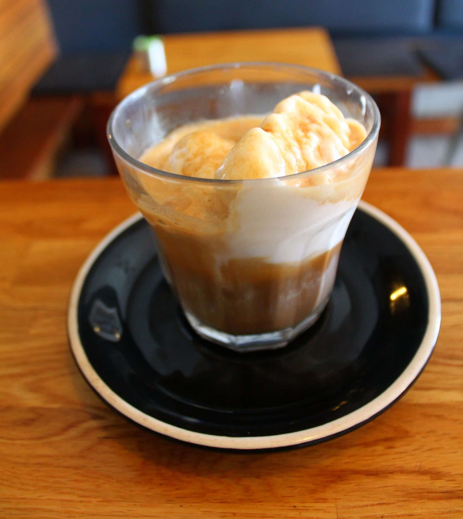Affogato made at Quest Coffee Roasters