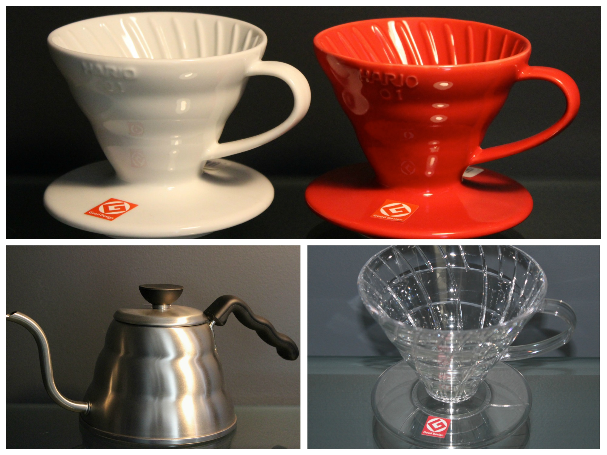 Hario V60 Drippers and Buono Drip Kettle