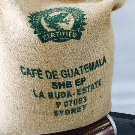 Back of Guatemala Coffee Bag Finca La Ruda