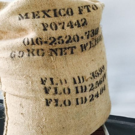 Quest Coffee Mountain Water Decaf Rainforest Alliance Organic Mexico in hessian bag