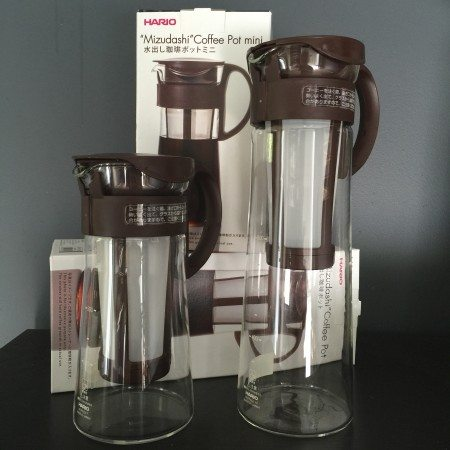 Mizudashi Cold Brew Pot in 600ml and 1ltr by Hario