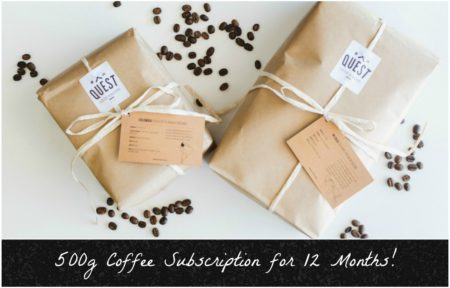 Coffee Subscription: 500g beans delivered to your door for 12 Months + BONUS month free