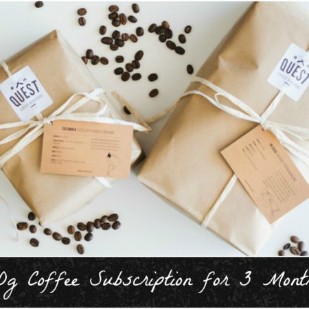 Coffee Subscription: 500g beans delivered to your door for 3 Months