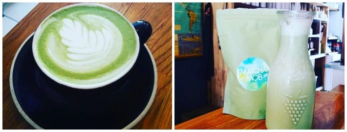 Matcha Latte & Frappe made at Quest Coffee Roasters, Burleigh Heads