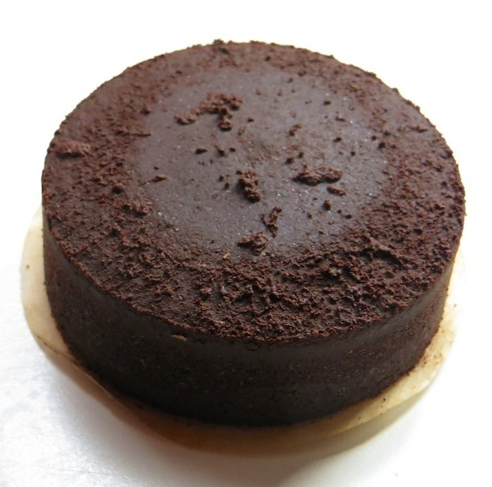 Aeropress 'puck' of coffee grounds