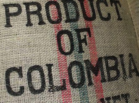 Product of Colombia; Colombian Burlap (Hessian) Bag