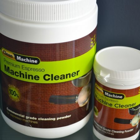 Clean Machine Premium Espresso Machine Cleaner, available in 100g and 1kg sizes