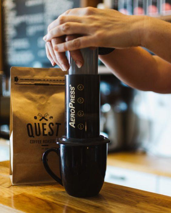 Aeropress + free coffee Promo