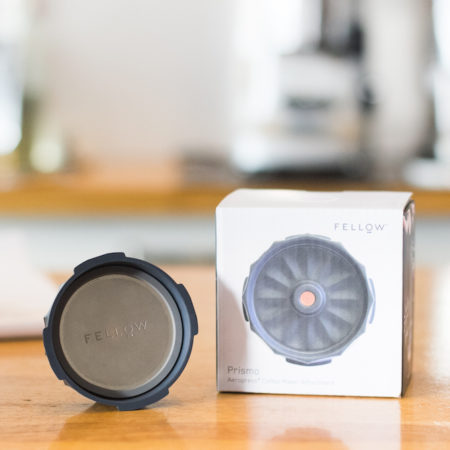 Fellow Prismo is designed to attach to your Aeropress and make delicious espresso coffee. Now you can make everything from full immersion to cold brew coffee or tea and espresso. The one versatile product for all your home brew needs.