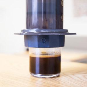 Fellow Prismo Aeropress Filter making a delicious espresso coffee at home.