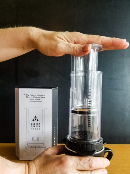 Delta Coffee Press uses infusion, whereas most other home brewers use immersion brewing. The Delta Coffee Press is available for $50 at Quest Coffee Roasters.