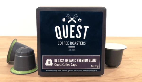 Quest Coffee Caps, coffee pods for Nespresso compatible coffee maker