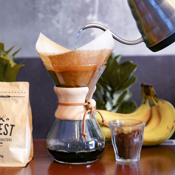 Chemex Classic 6 Cup with ground coffee