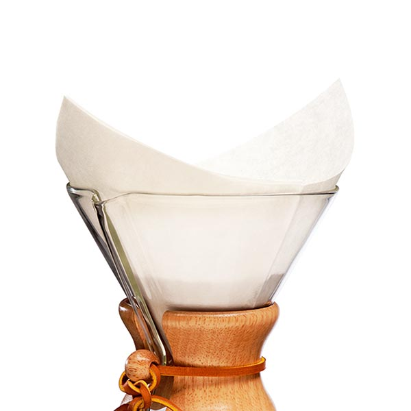 Chemex 6 cup filters - pre-folded - white